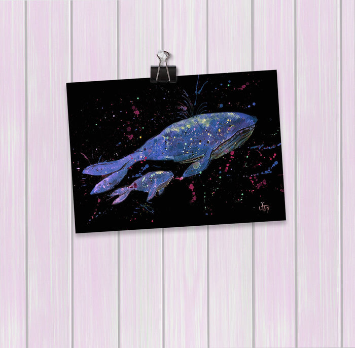 Berta & Baby Whale Enchanted Art Mini Print