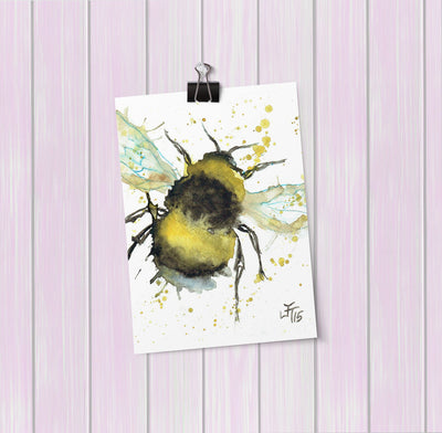 Bumble Bee Art Mini Print