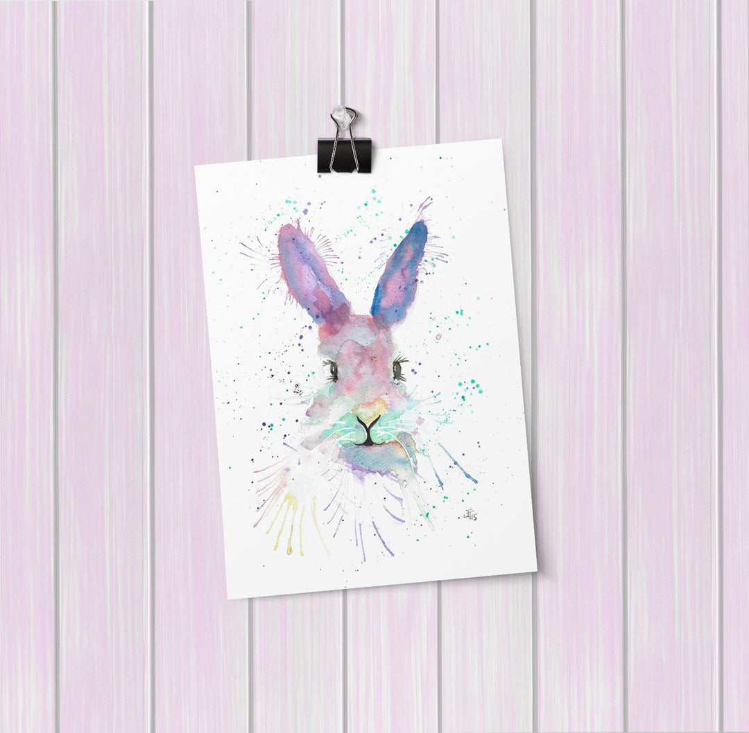 Mrs Bunny Art Mini Print