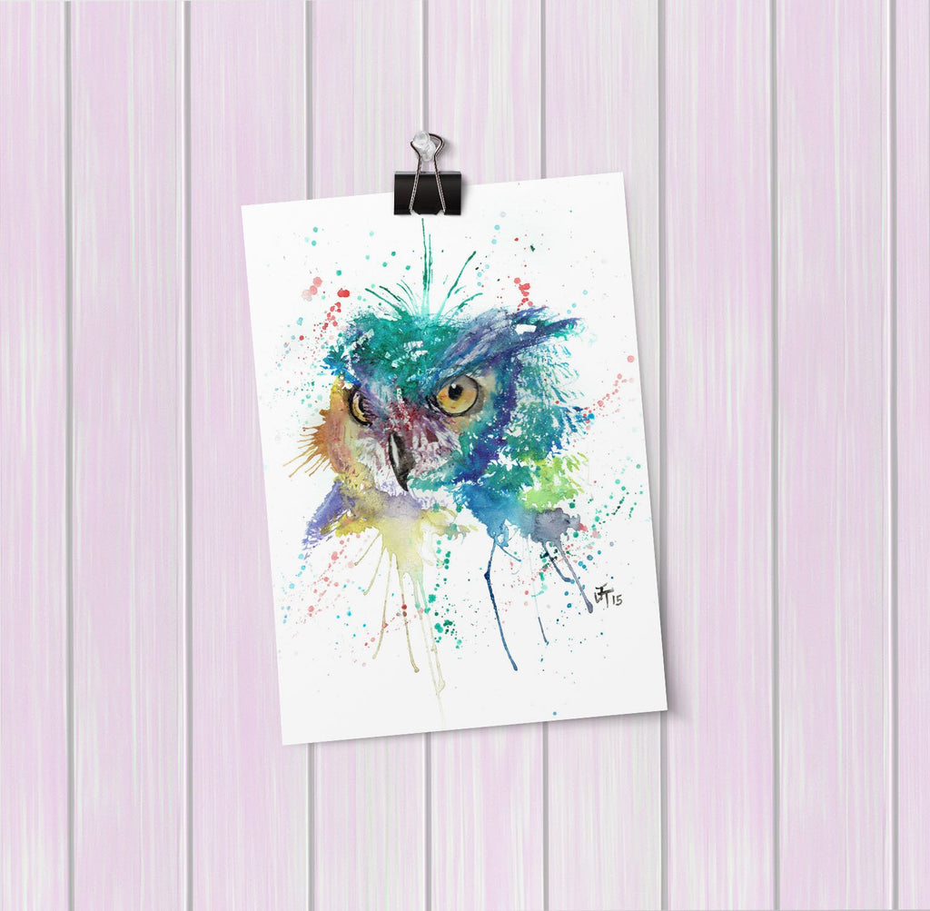 """Wise"" Owl Art Mini Print"