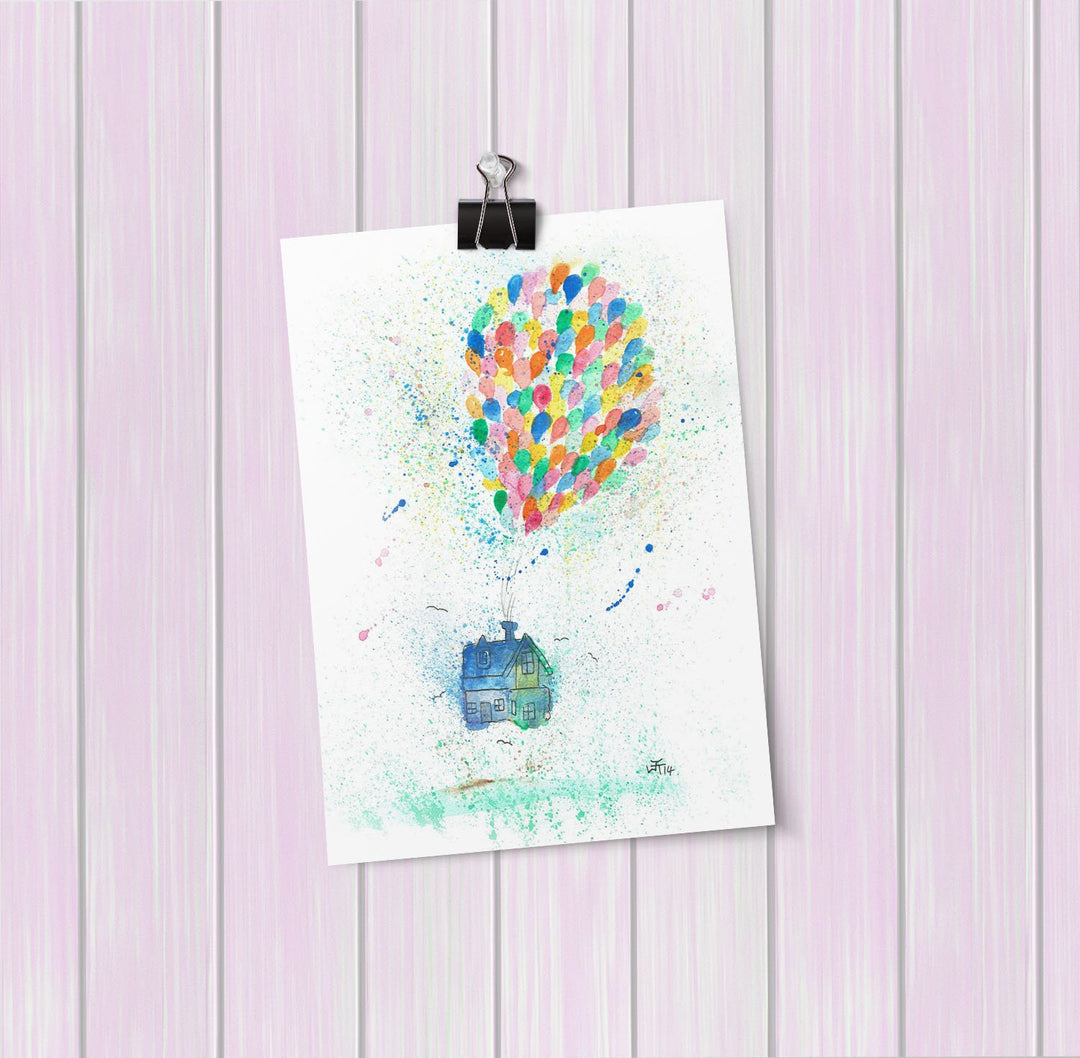 Balloon House Art Mini Print