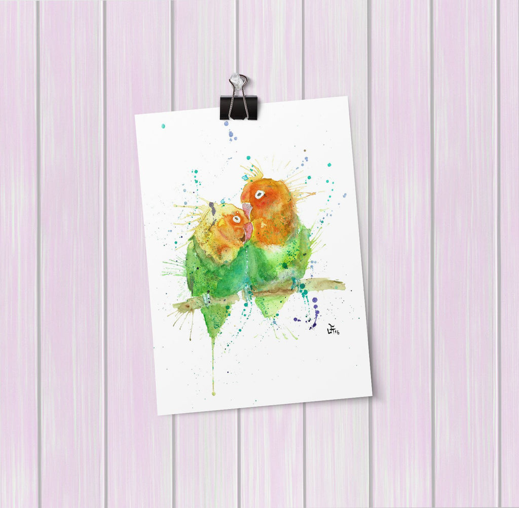 Love Birds Art Mini Print