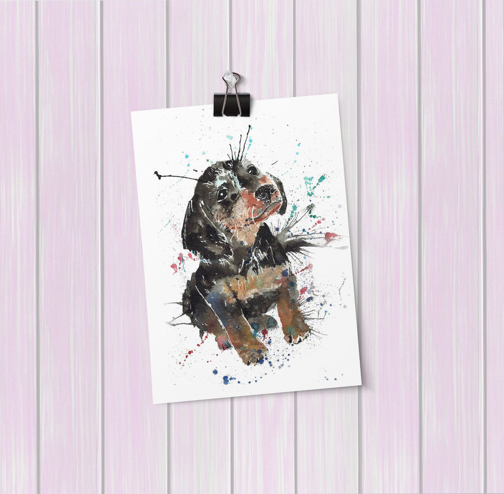 """Pierre"" Dachshund Art Mini Print"