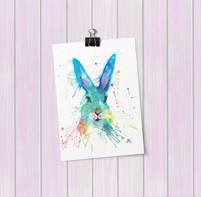 Hare Hare Art Mini Print