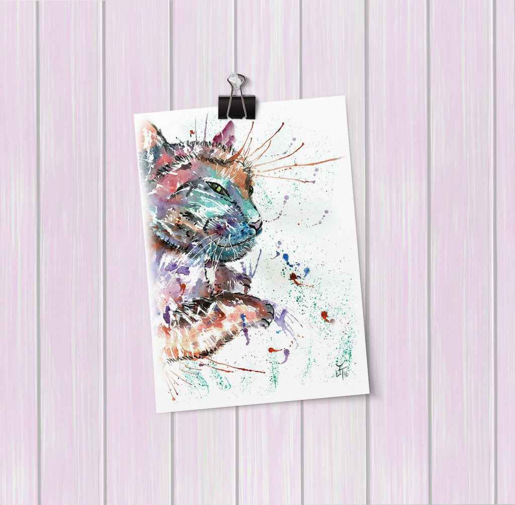 """Dave"" Cat Art Mini Print"