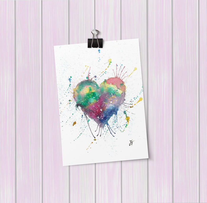 Heart Art Mini Print