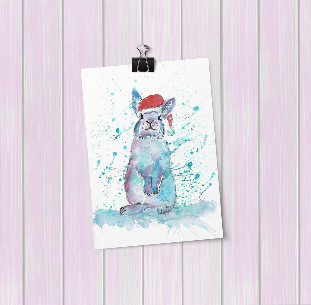 Christmas Bunny Art Mini Print