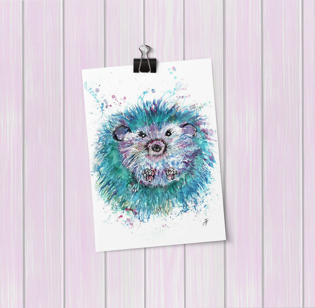 """Maisey"" Hedgehog Art Mini Print"