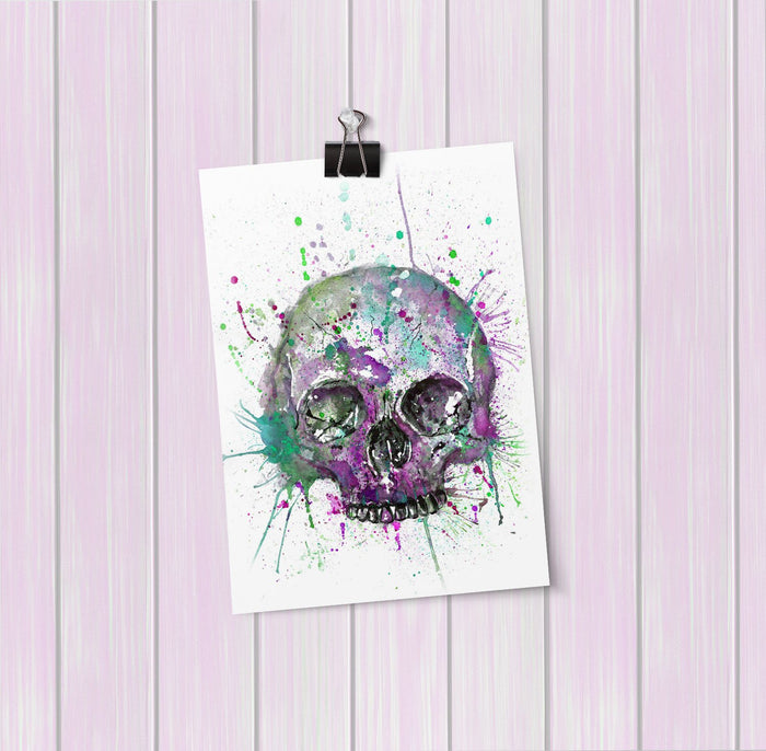 Purple Skull Art Mini Print