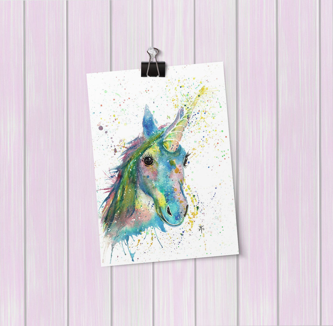 """Patty"" Unicorn Art Mini Print"