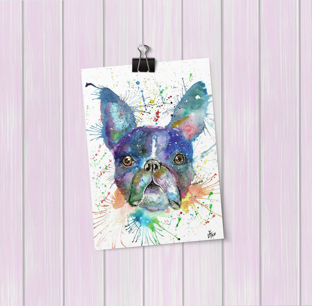 """Bruno"" Boston Terrier Art Mini Print"