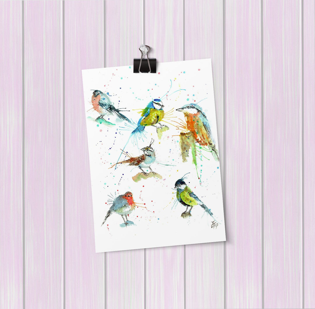 Brit Birds Art Mini Print