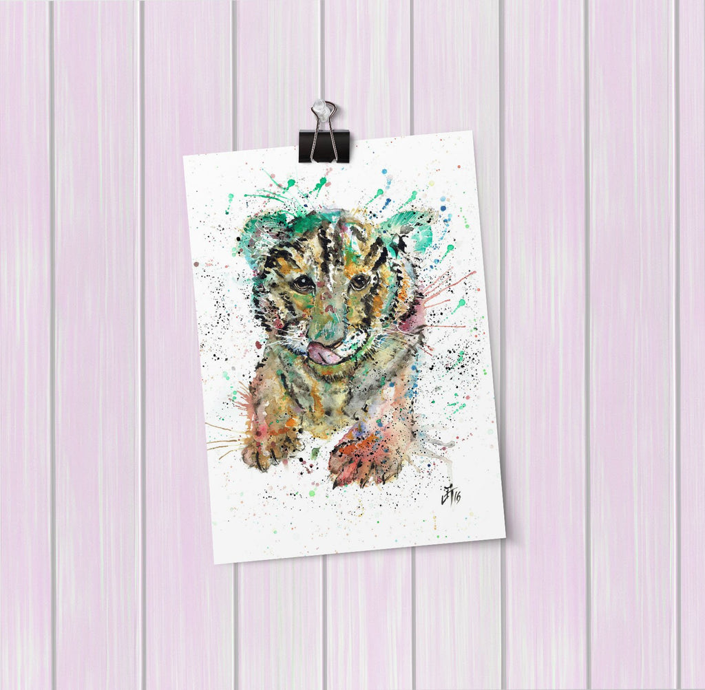 """Franklin"" Tiger Cub Art Mini Print"