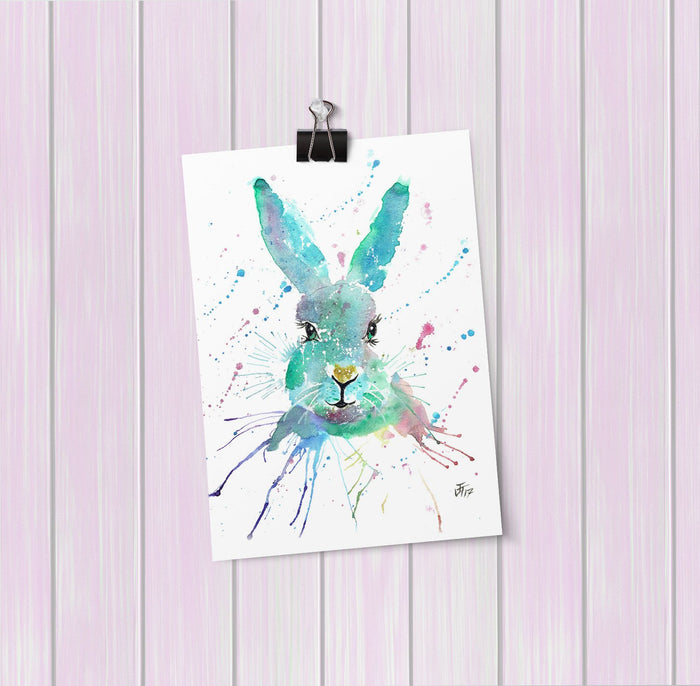 """Minty"" Hare Art Mini Print"