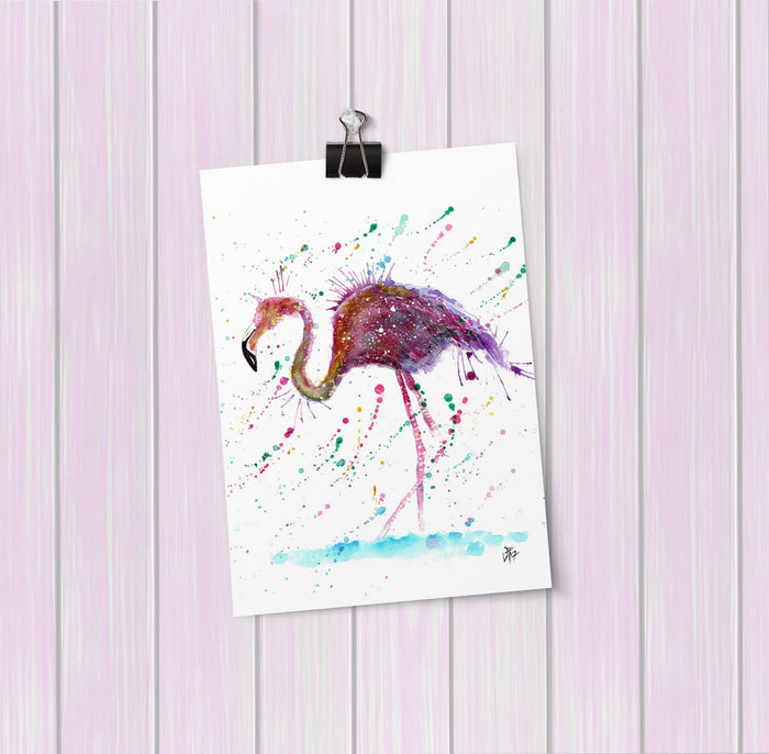 """Doris"" Flamingo Art Mini Print"