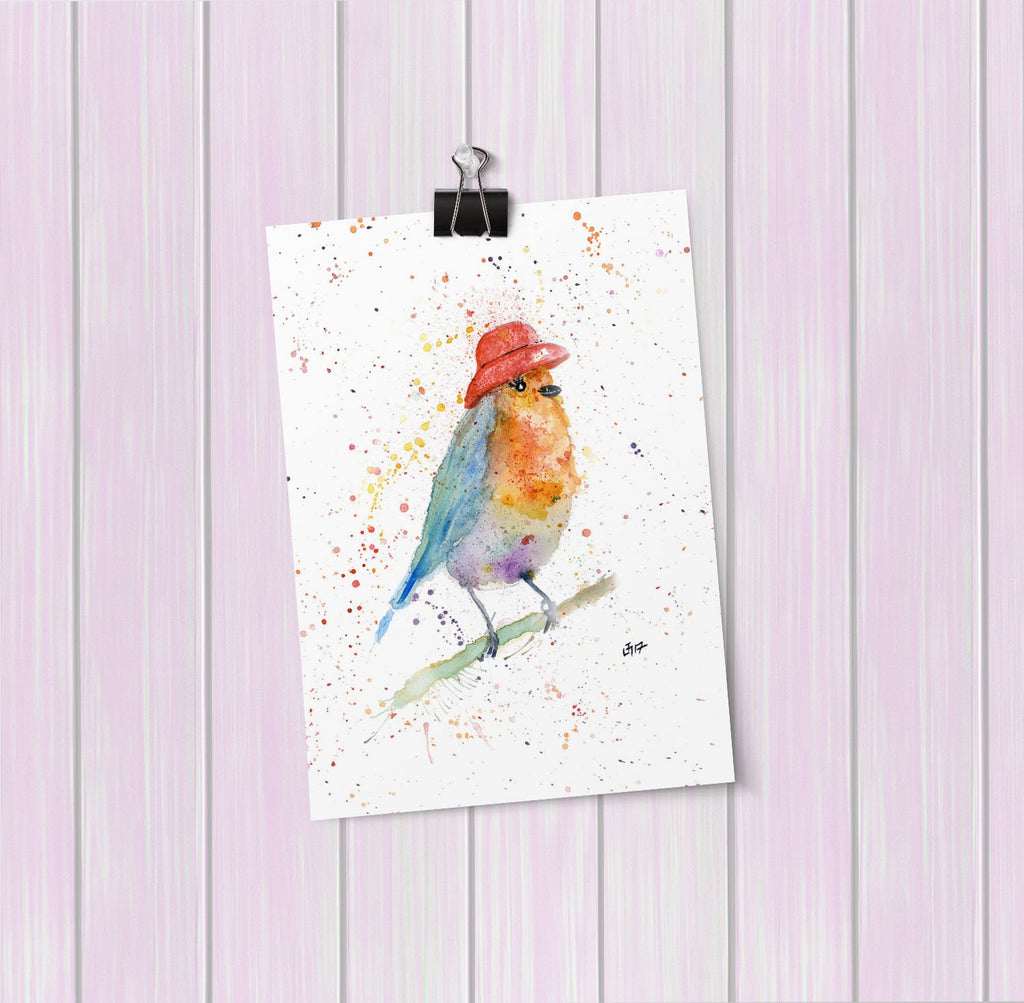 Mrs Robin Art Mini Print