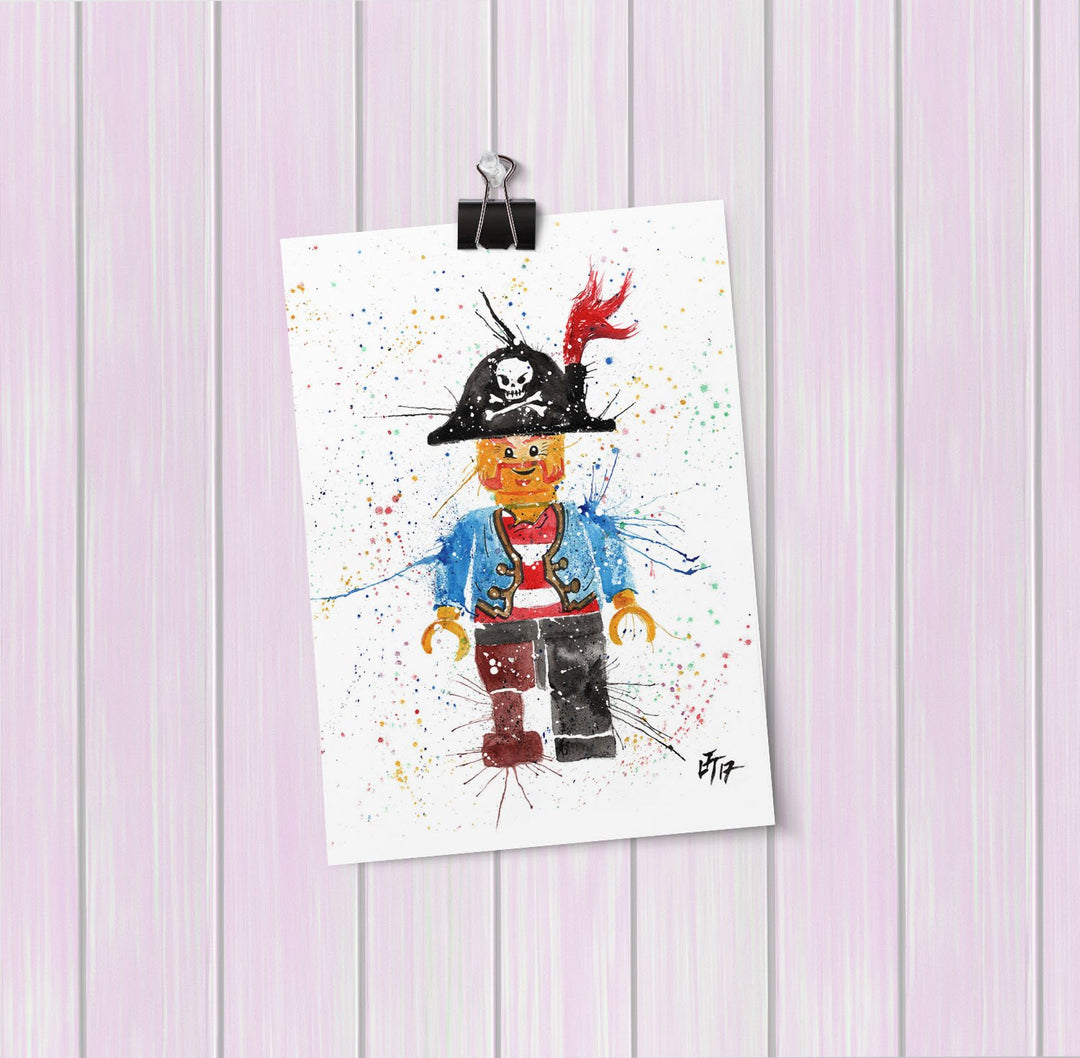 Arggghhh Pirate Art Mini Print