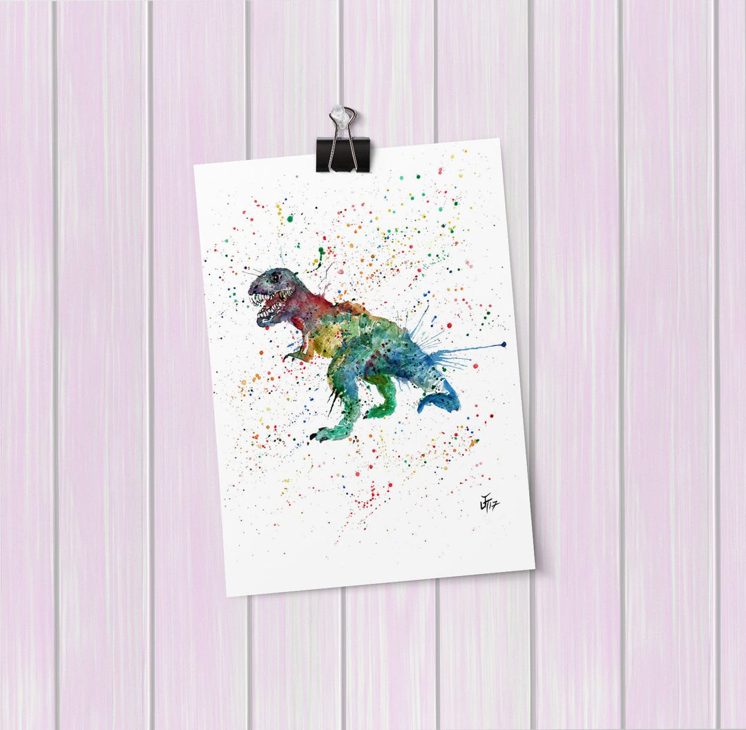 """Gary"" T-Rex Art Mini Print"
