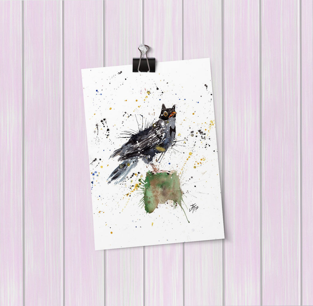 Blackbird Batman Art Mini Print