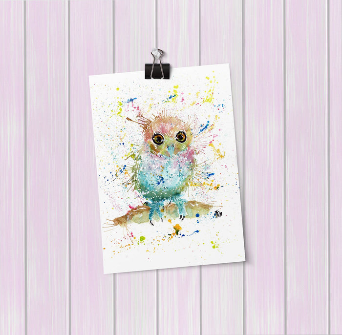 Baby Owl Art Mini Print