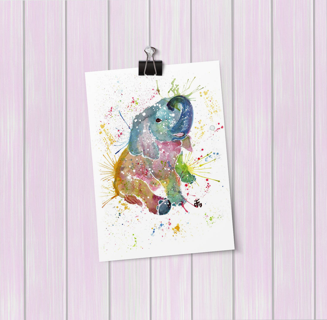 Baby Elephant Art Mini Print