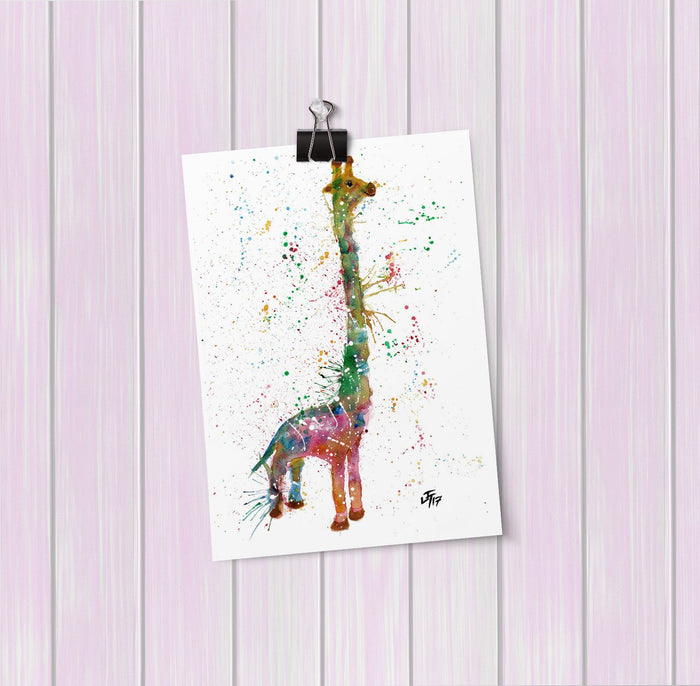 """Lofty"" Giraffe Art Mini Print"