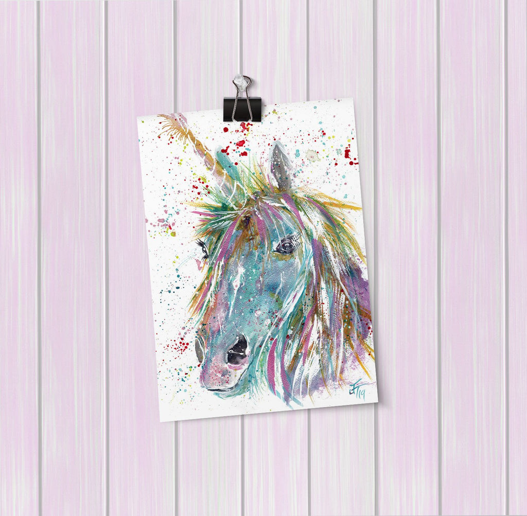 """Millie"" Unicorn Art Mini Print"