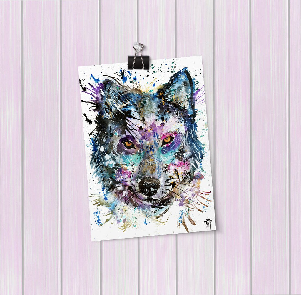 """Howl"" Wolf Art Mini Print"