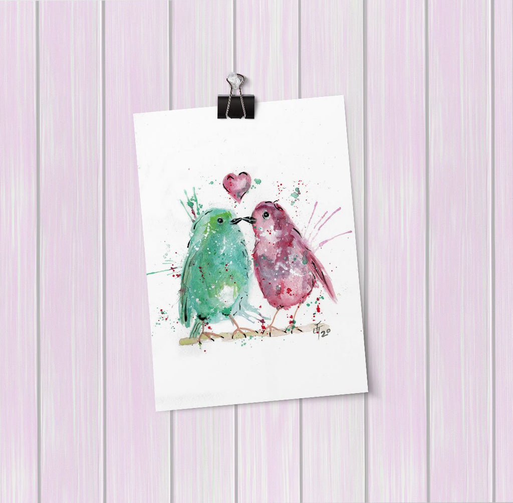 Tweet Heart Art Mini Print