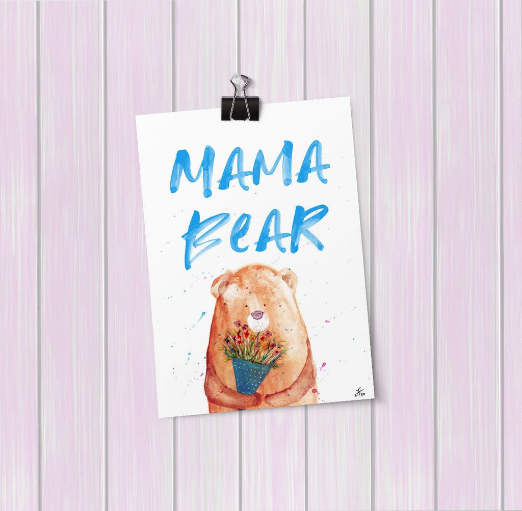 Mama Bear 2020 Art Mini Print