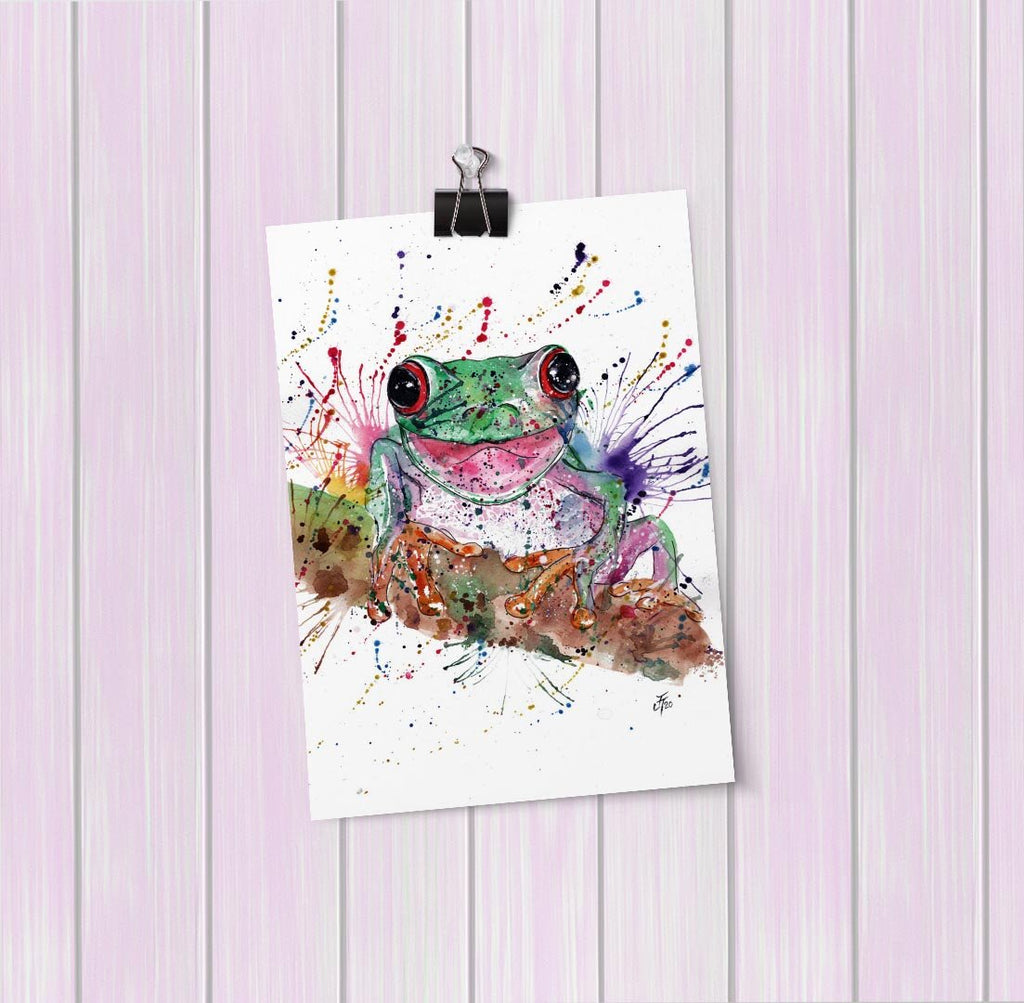 Chris the Frog Art Mini Print
