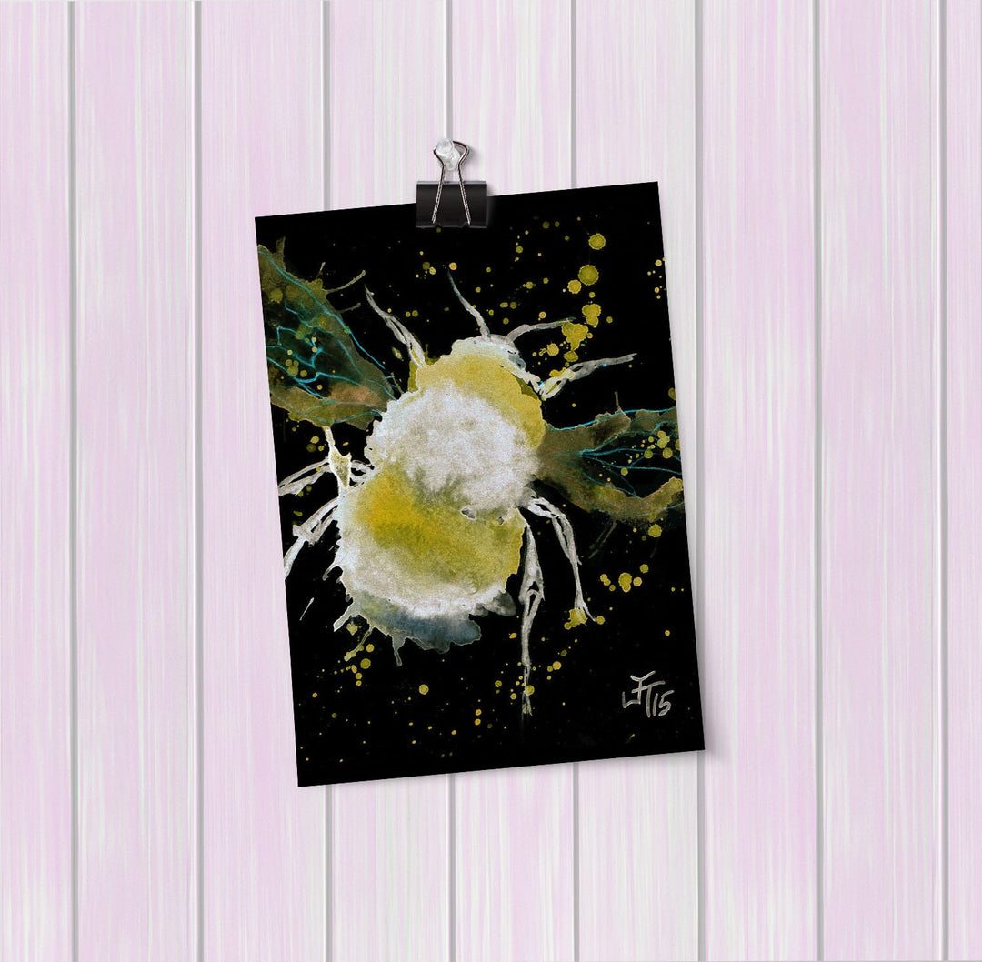 Bumble Bee Enchanted Art Mini Print