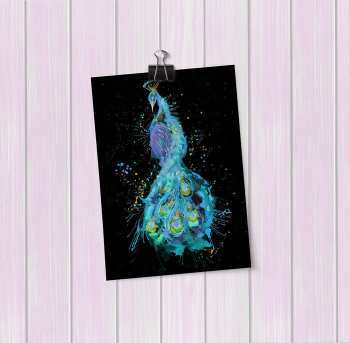 """Prince"" Peacock Enchanted Art Mini Print"