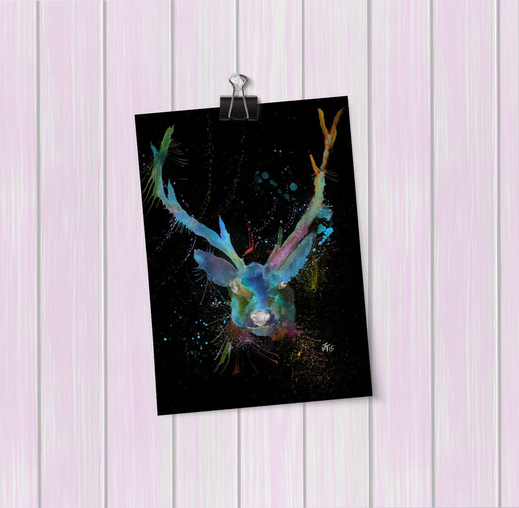 """Bruce"" Stag Enchanted Art Mini Print"
