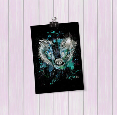 """Baz"" Badger Enchanted Art Mini Print"