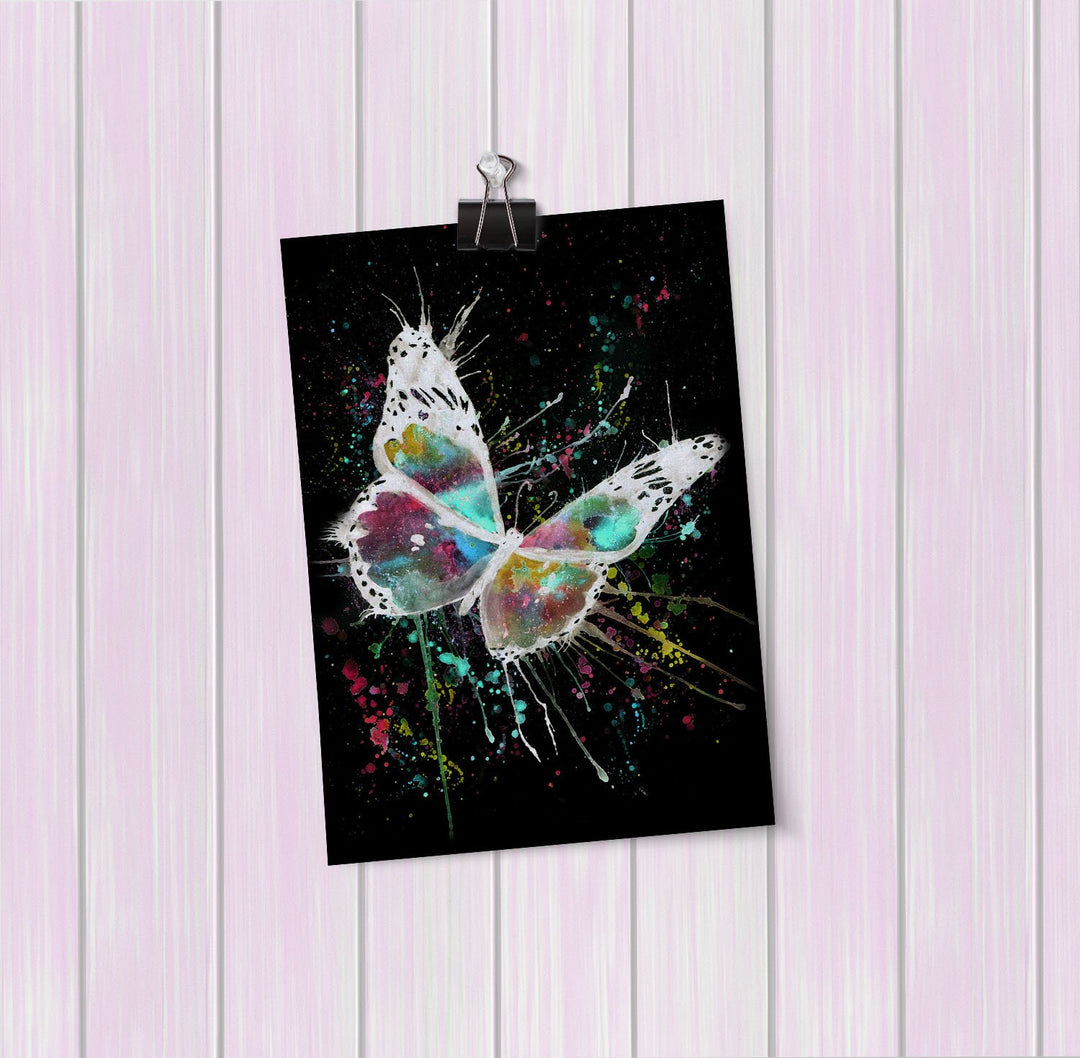 """Flutter"" Butterfly Enchanted Art Mini Print"