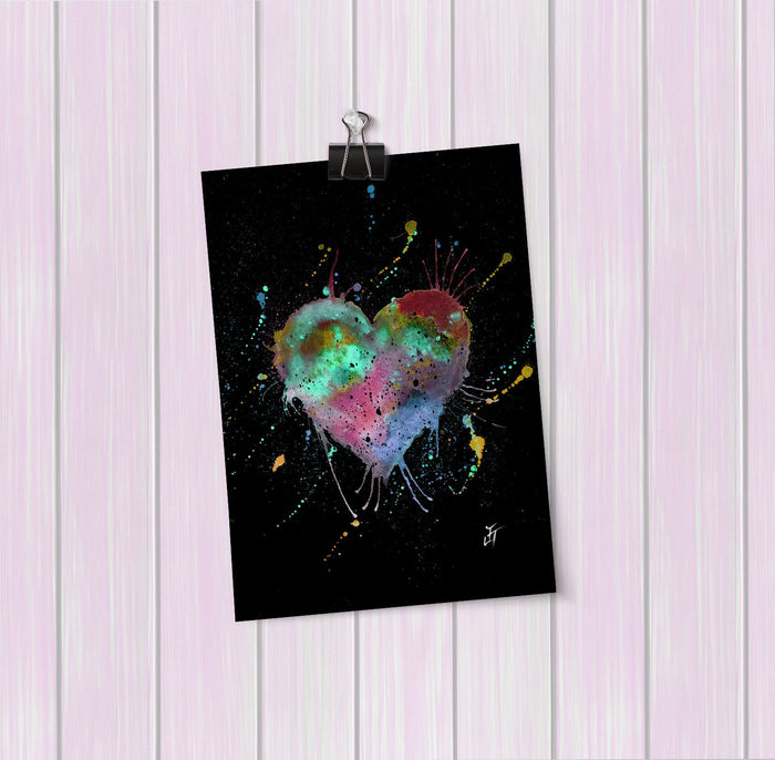 Heart Enchanted Art Mini Print