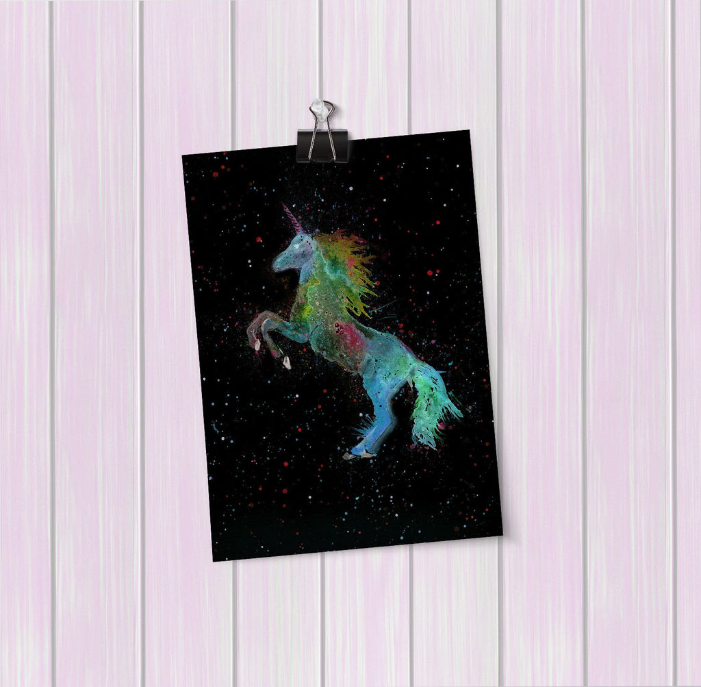 Rainbow Unicorn Enchanted Art Mini Print