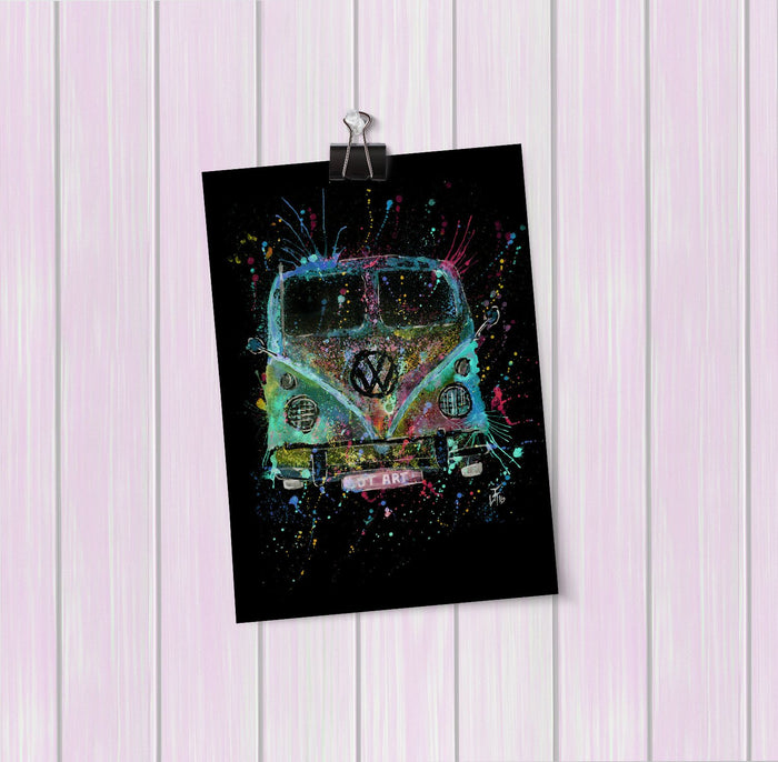 Camper Van Enchanted Art Mini Print