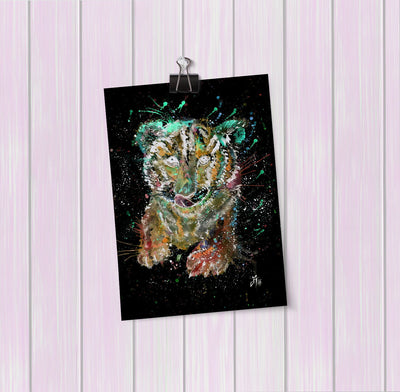 """Franklin"" Tiger Cub Enchanted Art Mini Print"