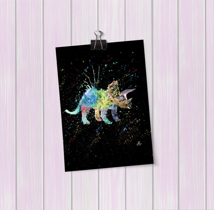 """Steve"" Triceratops Enchanted Art Mini Print"