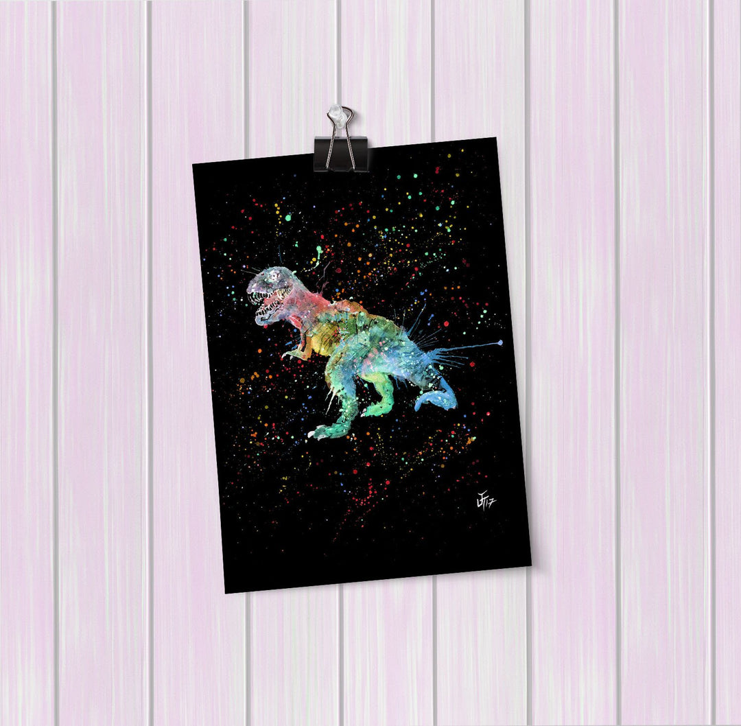 """Gary"" T-Rex Enchanted Art Mini Print"