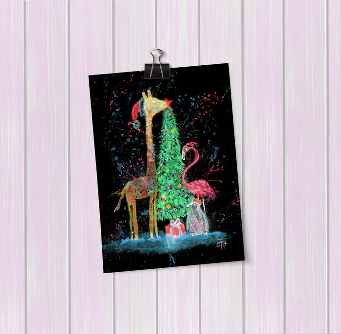 Christmas Pals Enchanted Art Mini Print