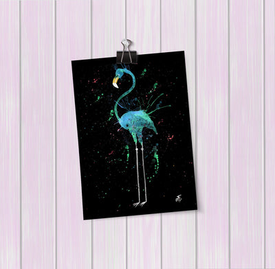 """Mary"" Flamingo Enchanted Art Mini Print"