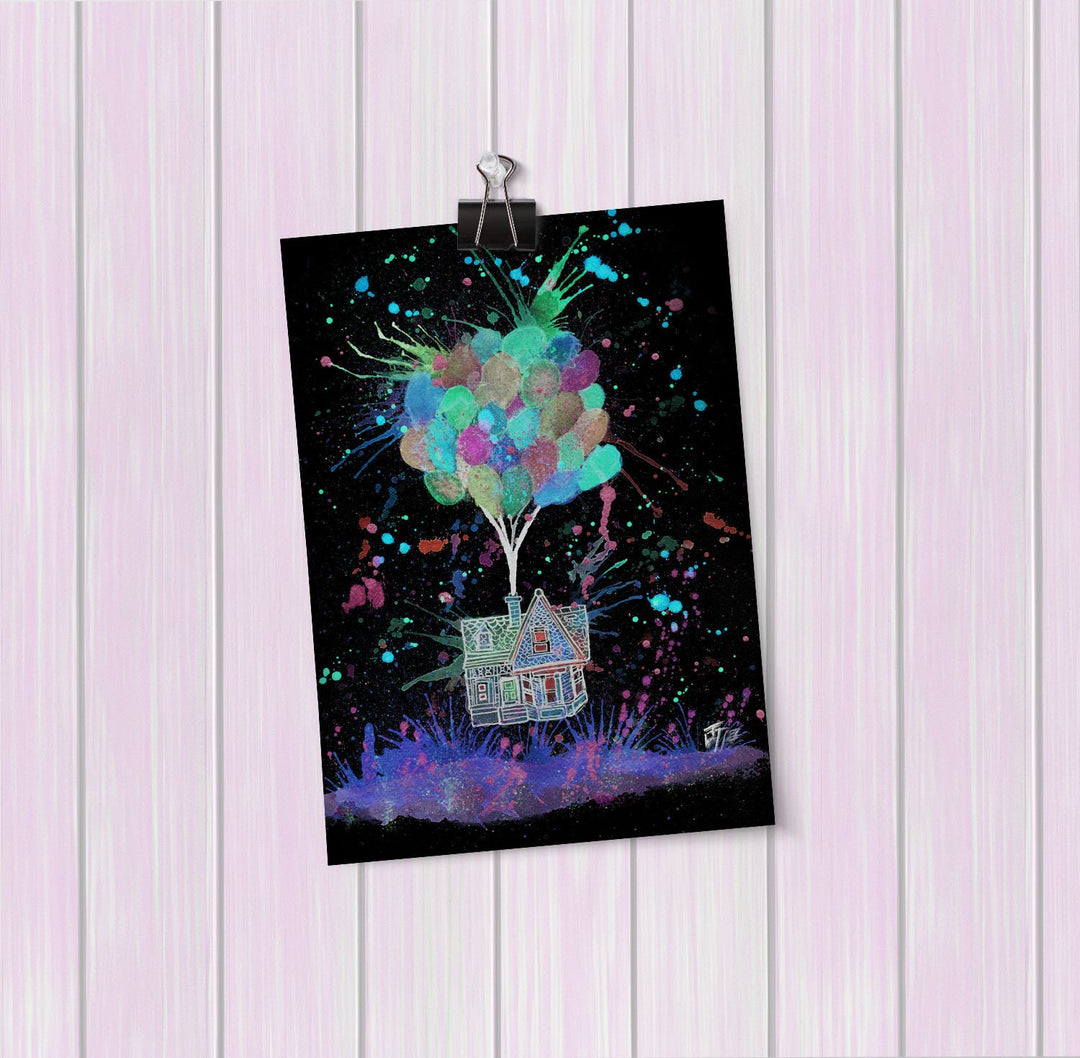 Up Pinks Enchanted Art Mini Print