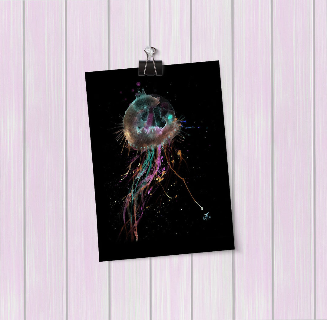 Jellyfish Enchanted Art Mini Print