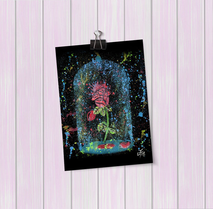 Magic Rose Enchanted Art Mini Print