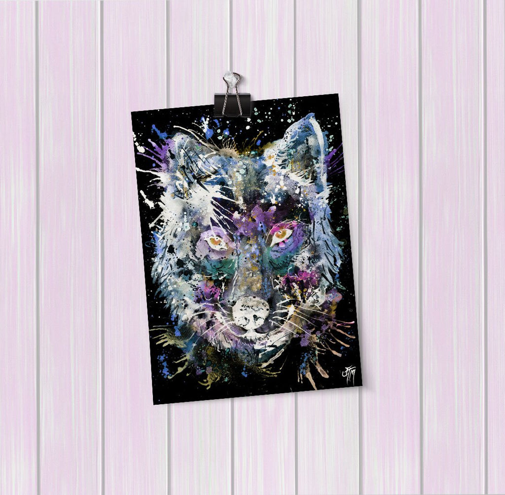 """Howl"" Wolf Enchanted Art Mini Print"