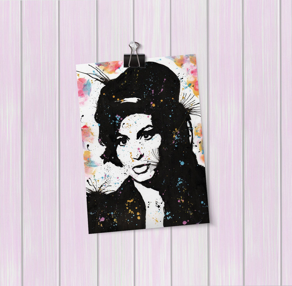 """Amy"" Art Mini Print"