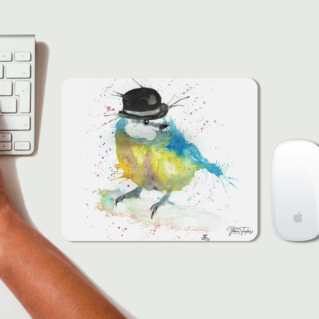 Bluetit Bowler Desk Mousemat